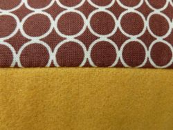 Esperanza cushion brown dot/yellow