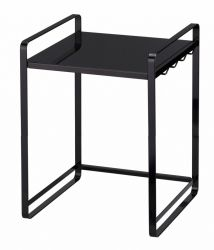 Extendable Kitchen Counter Organizer Tower | Black