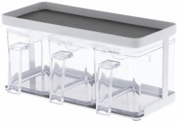 Seasoning Box & Rack Tower | White