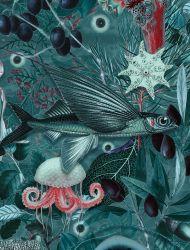 Wandtapete Underwater Jungle 4 Blätter | 686