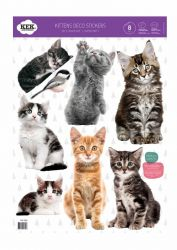 Wandaufkleber | Satz von 20 Aufklebern | Katzen