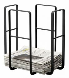 Newspaper Rack Tower | Black