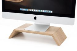 Solid Wood Monitor Stand | Oak