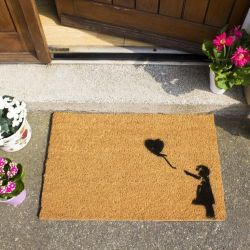 Doormat Girl with a Balloon