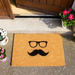 Doormat Mustache & Glasses