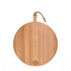 Servierplatte Buchenholz Rund 50 cm | Braun