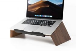 Solid Wood Laptop Stand | Walnut