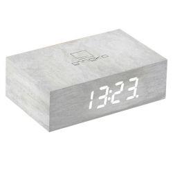 Kipp-Klick-Uhr | weiße Birke