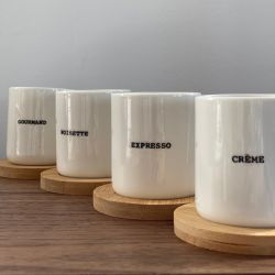 Mugs and Coasters Words | Set of 4