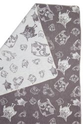 Blanket Owls & Mouses Grey/Natural