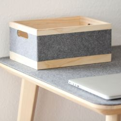 Storage Box | Grey & Wood