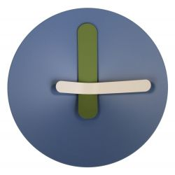 Mozia Wall Clock Blue