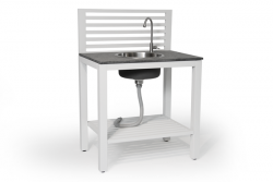 Outdoor Kitchen with Tap & Sink Bellac | White