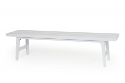 DISCONTINUED Garden Bench Calmar | White