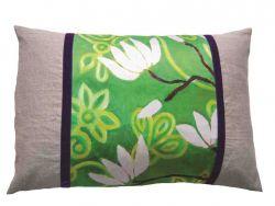 """Rechthoekig Design Kussen """"In Bloom"""" Groen"""