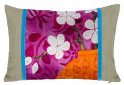 Rectangular Design Pillow In Bloom Pink