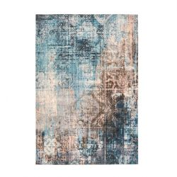 Rug India 300 | Blue & Brown