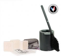 Set Les Indispensables | Toilettenbürste 'La Brosse' + Seife N°2 x 3 + Gästehandtuch
