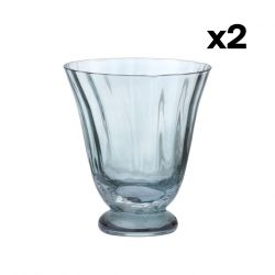 Set of 2 Water Glass Trellis | Topaz