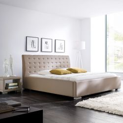 Upholstered Bed Isa Comfort | Muddy Faux Leather