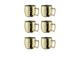 Cocktail Cup Moscow 60 ml Set of 6 | Gold