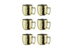 Tasse Cocktail Moscou 60 ml Set de 6 | Or