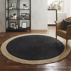 Round Jute Rug | Charcoal Grey