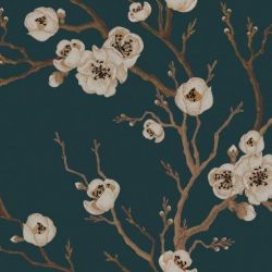 Wall Mural Japanese Floral | Blue