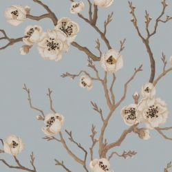 Wall Mural Japanese Floral | Duck Egg