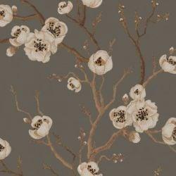 Wandbild Japanische Blumen | Grün
