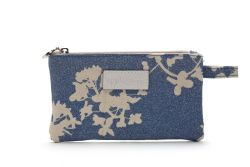 Small Make Up Bag Japan Blue Glitter
