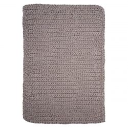 Rug Crochet 60 x 90 cm | Grey