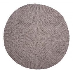 Teppich Crochet D 80 cm | Grau