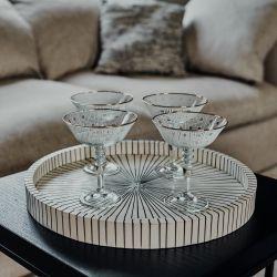 Champagneglazen Geo Set van 4