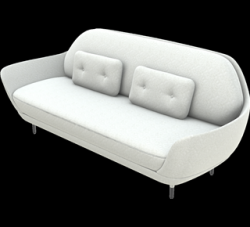 Sofa Favn JH3 | Divina Melange / Light Grey 1 Fabric