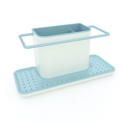 Gootsteenorganiser Caddy XL | Wit & Blauw