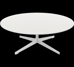 Space Table JL50 | Table basse blanc