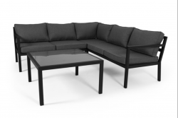 Outdoor Lounge Set Joliette | Black