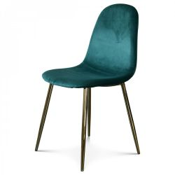 Chair Josef Velvet | Green/Gold