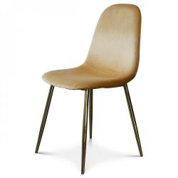 Chair Josef Velvet | Brown/Gold