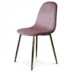 Chaise Josef Velours | Rose/Noir