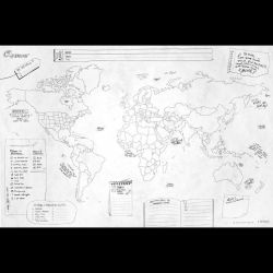 Crumpled Worldmap | Journal Map
