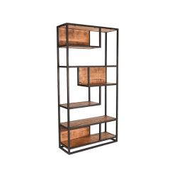 Hoches Regal Burly 100x35x200 cm | Mango Holz