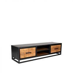 TV-meubel Cuba 160x45x40 cm | Mangohout  & Zwart Metaal