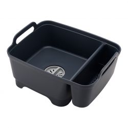 Dishwashing Up Bowl with Plug & Storage Wash&Drain | Grey
