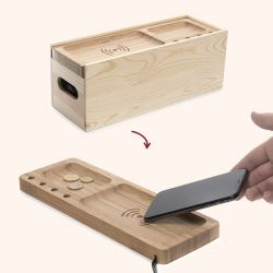 2-in-1 Wine Box & Wireless Charging Dock Juice Box