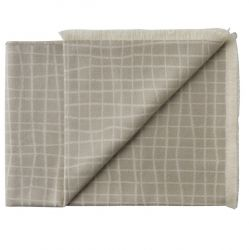 Plaid Juliaca 130 x 200 cm | Warm Grey