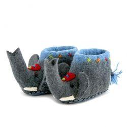 Kinderpantoffeln Jumbo der Elefant | Grau