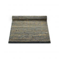 Leder/Jute-Teppich | Graphit