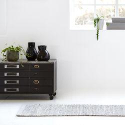Leather/Jute Rug | Smooth Grey